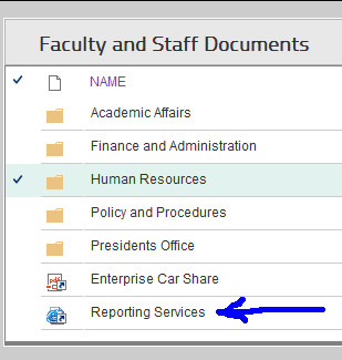 myOWU Faculty and Staff Documents screenshot