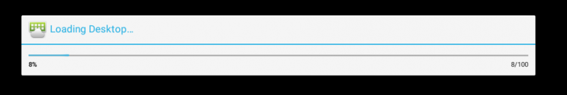 Loading Desktop progress bar